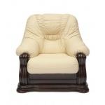Кресло из натуральной кожи «Гольцмаер» бежевый (TC)