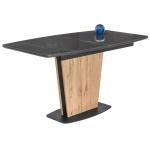 Стол на тумбе Оливер дуб антор натуральный / графит (LM)