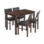 Обеденная группа Bahamas (стол и 4 стула) oak / black (LM)