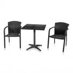 Комплект мебели для кафе Milanо-2 (T-159B/Y-95В BLACK)(AM)