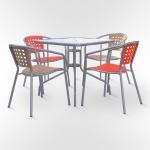 Набор мебели для кафе (ХRB-042В-D80x80)(AM)
