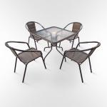 Комплект мебели для кафе Nicole-2B (TLH-037B/073B-80)(AM)