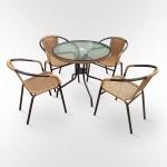 Комплект мебели для кафе Nicole -1А (TLH-037A/087A-80)(AM)