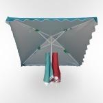 Зонт для летнего кафе-2.4х2.4см. (UM-240/4D)(AM)