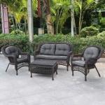 Плетеный комплект мебели из искусственного ротанга (LV520В)(AM)