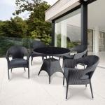 Комплект мебели из иск. ротанга Abcent (black) (комплект T190A/1Y97A)(AM)