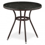 Плетёный стол из искусственного ротанга (D80) (T-283АNТ (W51))(AM)