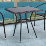 Плетёный стол из искусственного ротанга (70x70) (T-282BNS (W51))(AM)