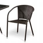 Плетёный стул из искусственного ротанга (Y137C)(AM)