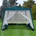 Садовый тент шатер с москитной сеткой 3x3x2.4m. (AFM-1036NA Green)(AM)