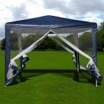 Садовый тент шатер с москитной сеткой 3x3м. (AFM-1040NB Blue)(AM)