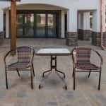 Комплект мебели для балкона Асоль-2В (TLH-037В/073В-60)(AM)