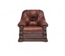 Кресло из натуральной кожи «Гольцмаер» коричневый(TC)