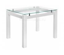 Стеклянный стол Бран белое дерево (LM)