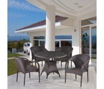 Комплект плетеной мебели T220CBT/Y290B-W52 Brown 4Pcs (AM)