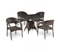 Комплект плетеной мебели T220BT/Y90C-W51 Brown 4Pcs (AM)