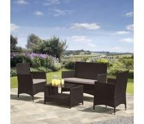 Комплект мебели из иск. ротанга AFM-2025B Black (AM)