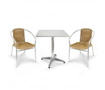Комплект мебели  LFT-3099A/T3125-60x60 Cappuccino (2+1) (AM)