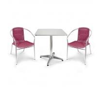 Комплект мебели  LFT-3099F/T3125-60x60 Bordo (2+1) (AM)
