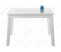 Стеклянный стол Арья белый / белая шагрень (LM)