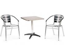 Комплект мебели LFT-3059/T3125-60x60 Silver (2+1) (AM)