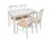 Обеденная группа Chili (стол и 4 стула) buttermilk / beige (LM)