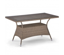 Плетеный стол T198B-W56-140x80 Light brown (AM)