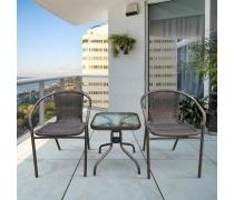 Комплект мебели Асоль-3B TLH-037B/055S-45х45 Brown (2+1) (AM)