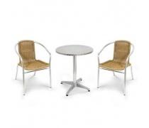 Комплект мебели LFT-3099A/T3127-D60 Cappuccino (2+1) (AM)