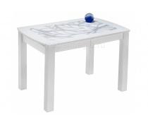Стеклянный стол Варис белый (LM)