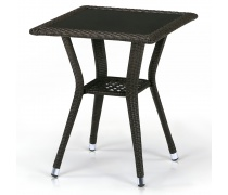 Плетеный стол T25-W53-50x50 Brown (AM)