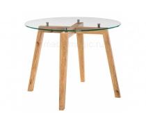 Стеклянный стол Ларс дуб монтана (LM)