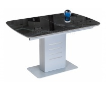 Стол на тумбе Кейтлин черный / серый (LM)