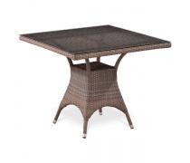 Плетеный стол T220BG-W1289-90x90 Pale  (AM)