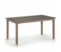 Плетеный стол T256B-W56-140x80 Light Brown (AM)
