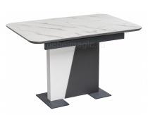 Стол на тумбе Кларк графит / белый (LM)