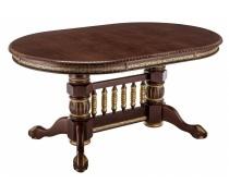 Деревянный стол Кантри орех с золотой патиной (LM)