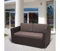 Плетеный диван S52A-W53 Brown (AM)