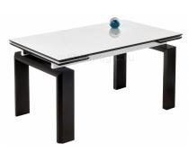 Стеклянный стол Давос белый / венге (LM)