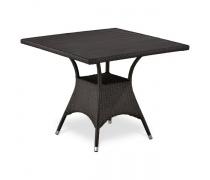 Плетеный стол T190BD-W52-90х90 Brown (AM)