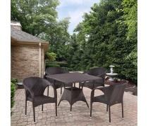 Комплект плетеной мебели T190BD/Y290B-W52 Brown 4Pcs (AM)