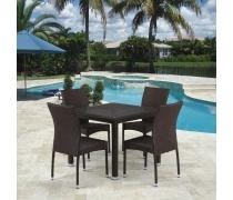 Комплект плетеной мебели T257A/Y380A-W53 Brown 4Pcs (AM)