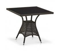 Плетеный стол T197BNS-W53-80x80 Brown (AM)