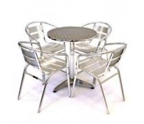 Комплект мебели LFT-3059/T3127-D60 Silver (4+1) (AM)