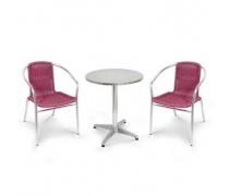 Комплект мебели LFT-3099F/T3127-D60 Bordo (2+1) (AM)