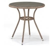 Плетеный стол T282ANT-W56-D72 Light Brown (AM)
