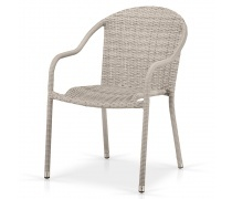 Плетеное кресло AFM-318G-Light Grey (AM)