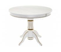 Деревянный стол Павия 130 молочный с золотой патиной (LM)