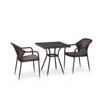 Комплект мебели из иск. ротанга T282BNT/Y35B-W2390 Brown (2+1) (AM)