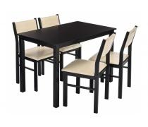 Обеденная группа Bahamas (стол и 4 стула) cappuccino / cream (LM)